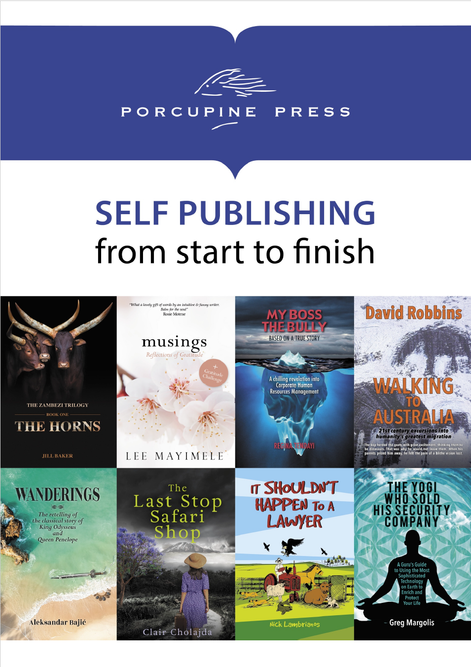 Self publishing booklet front cover